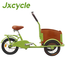 Wooden box 3 wheel cargo bike/ kids electric bike for sale