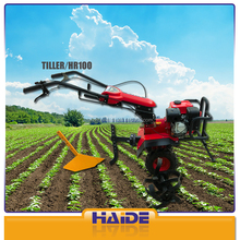 garden hand push cultivator HR100 6.5HP/4.1KW/196CC gasoline rotary motor hoe