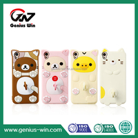 Universal 3D Cartoon cute animal Silicone Phone Case