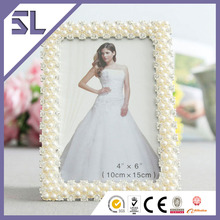 Mini Picture Frame Love Photo Frames Rhinestone Pearl Frame For Home Decoration Made in China