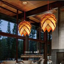 American Village Art Bamboo Wooden Pendant Lighting/Chandelier Wall mounted Lanterns For Bar ,Coffee Shop