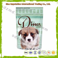Custom printed stand up dog food bag with ziplock