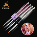 Perfect new year gift metal crystal liner brush nail art design fashion manicure pen brush