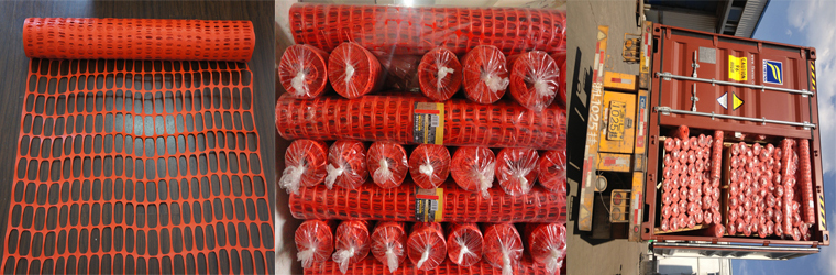 orange Plastic Warning Net