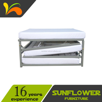 Metal Hotel Extra Folding Bed with Mattress