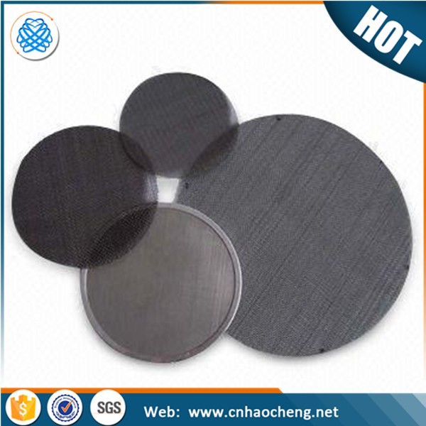 0.2 1 2 5 10 Micron sintered porous stainless steel metal filter disc