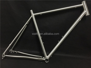 Titanium flat mount road bike frame with 142*12mm through axle dropout