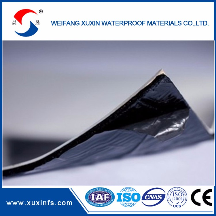 PET surface self-adhesive film bitumen waterproof membrane
