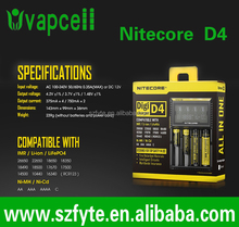 best Nitecore 26650 charger Nitecore D4 LCD baycharger 4 bay portable multi charger IMR/Lifepo4/NiMh/NiCd AA AAA battery charger