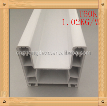 60mm sliding series two track unique style upvc profiles for window and door