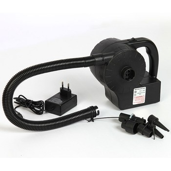 Electric Air Pump DC 12V/AC 220V, Includes Three Nozzles, Quicker Inflation, Durable