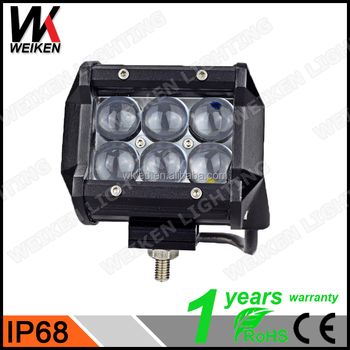 IP68 Aluminium Housing Wholesale 4D Lens 18w Led Light Bar