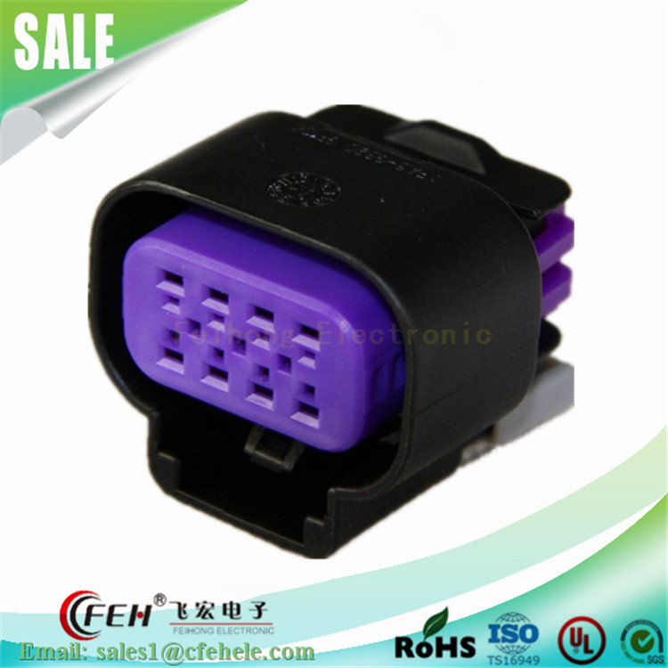 8 pin automotive electric connector Pa66 waterproof female socket DJ7081E-1.5-21