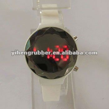 watch phone,silicone watch for gift,dazzling interchangeable silicone watch