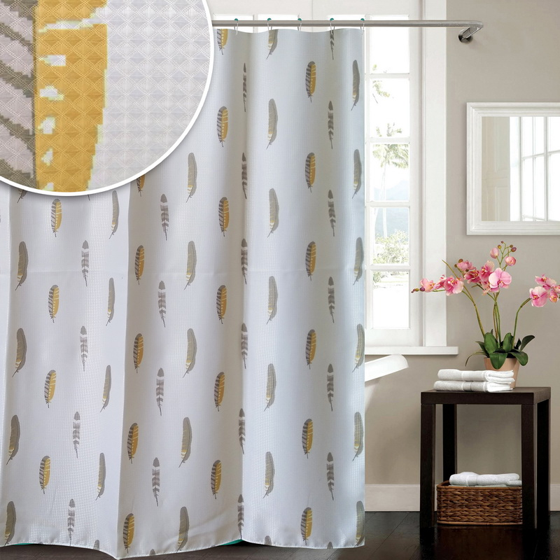 Water Repellent Bath Curtainl Printed Dobby Polyester Shower Curtain