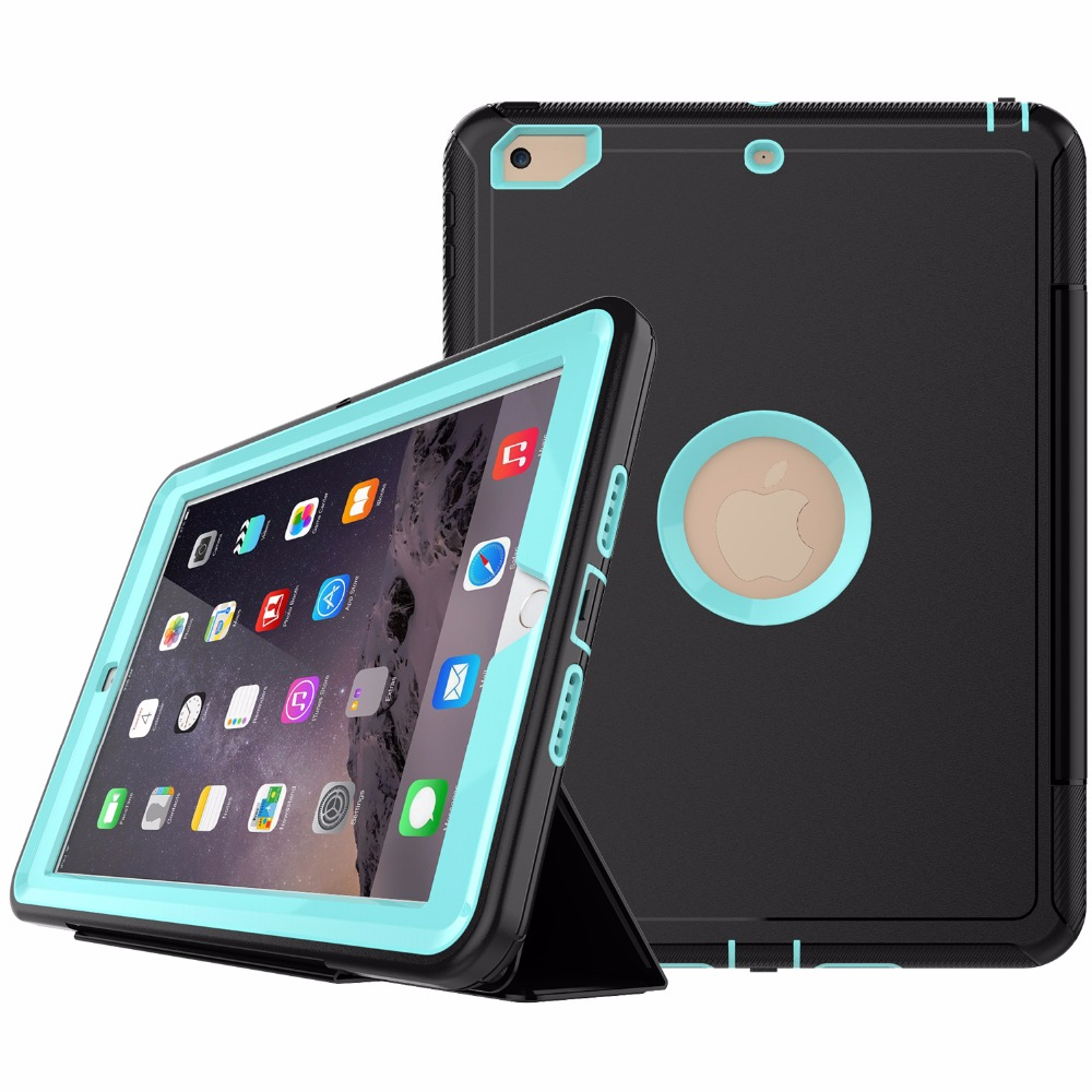 Smart Rugged Hard Cover for iPad 9.7 2017 Case for iPad 5th Generation Defender Case