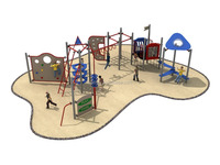 Low Price Plastic & Mental Children Favorite Playground Play Equipment with High Quality
