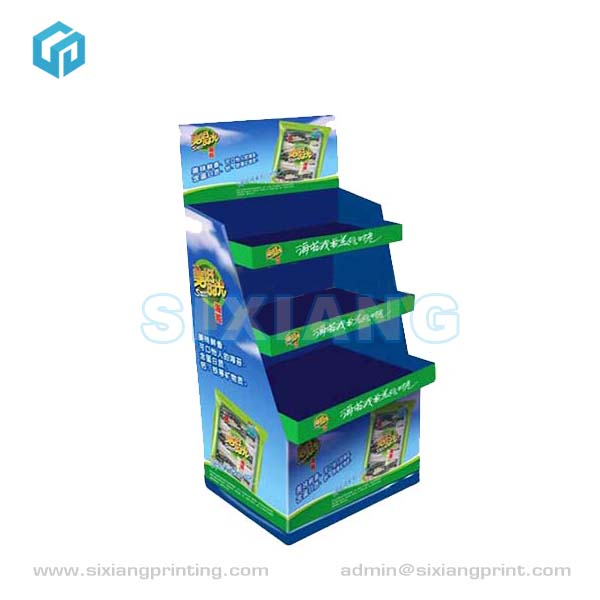 High Quality Low Price Corrugated Cardboard POP Commodity Pet Food Display Rack