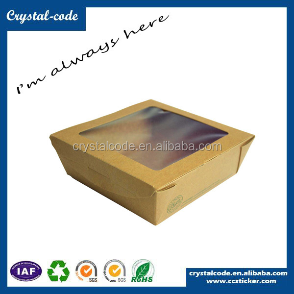 Recycled plain cardboard gift boxes clear lid wholesale