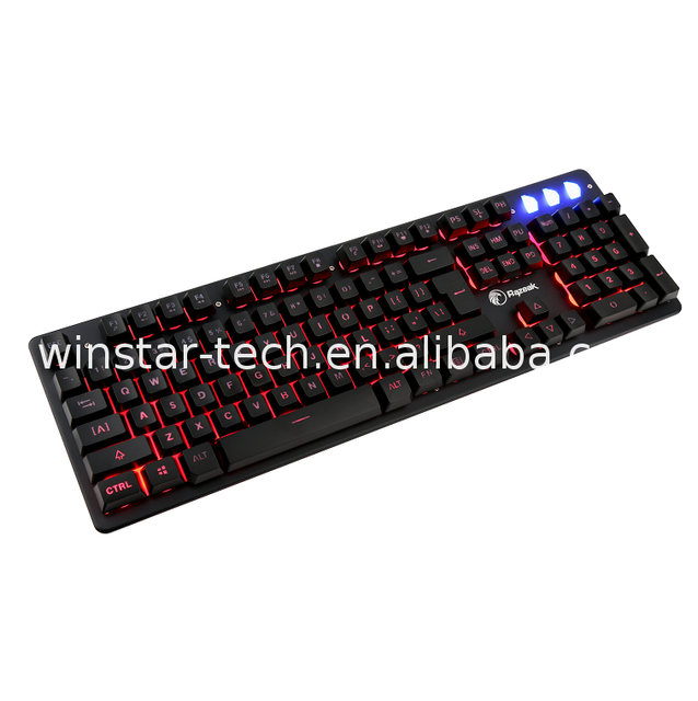 Cheap price Best Selling usb arabic printing letters wired illuminated keyboard Exported to Worldwide