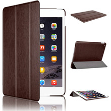 Cover with Magnetic Auto Wake & Sleep Function for iPad Air 2 Coffee color case