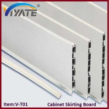 Cabinet furniture skirting line/aluminium skirting board/plastic skirting cabinet foot line
