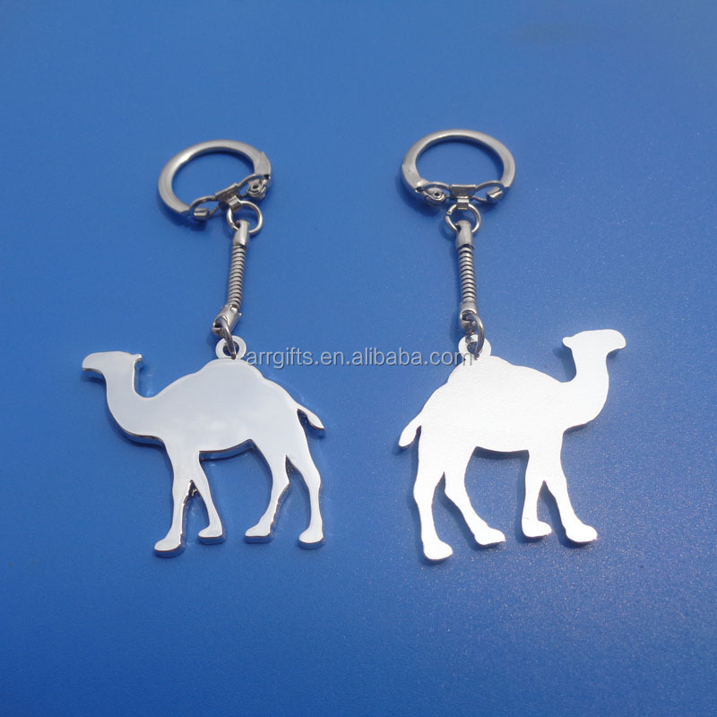 Tourism Gifts Cut Out Arabian Camel Shaped Keychain
