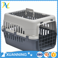 portable gray plastic pet carrier flight dog carrier large dog carriers