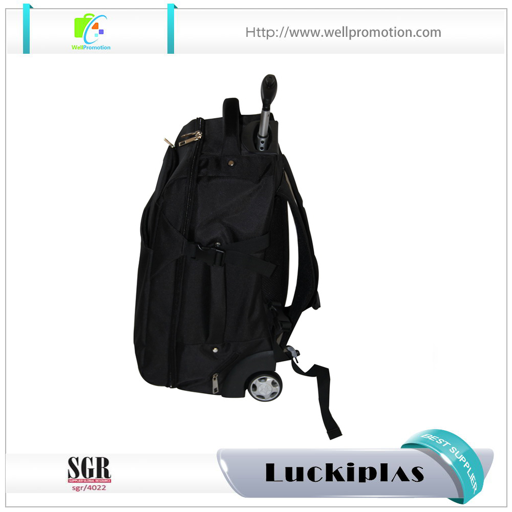 Newest coolest kids school rolling backpack polyester rolling laptop bag backpack for programmers