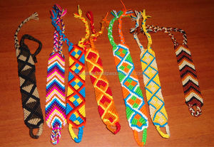 Wayuu Bracelets. Handwoven knots in cotton. Medium Size