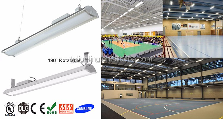 140lm/<strong>w</strong> 80W-200W led linear high bay with DLC 4.0 premium listed led high bay lamp