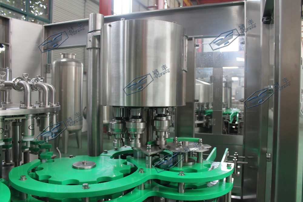 Glass bottled Energy Drink and Juice hot Filling and Sealing Machine