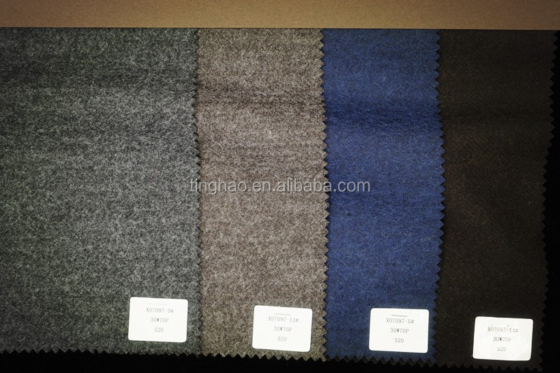 Wool poly acrylic viscose blend knit wool fabric
