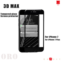 Clear gold 3D tempered glass screen protector for iphone