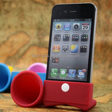 No power needed phone silicone portable mini speaker/wireless silicone speaker,silicone music speaker