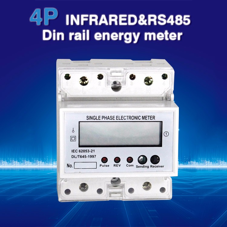 DDS5558 single phase and three phase power meter wtih battery also supply electric meter cover