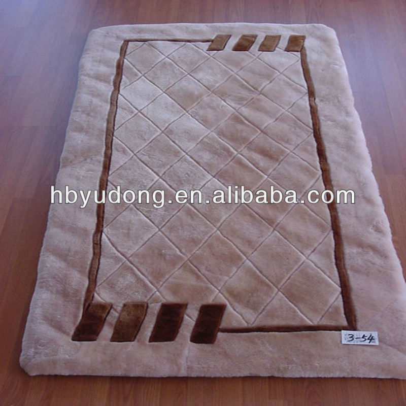 Design natural sheepskin carpet