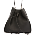Fashion Leather Drawstring Opening Handbag for Woman
