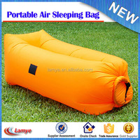 Popular fast inflatable sleeping bag inflatable air bed air-filled bean bag