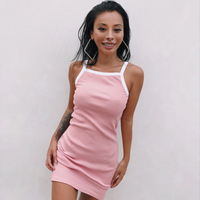 2018 Summer Casual Women Elegant Fashion Vest Dresses Sleeveless Strap Hot Sundress Slim Sexy Party Prom Mini Dress