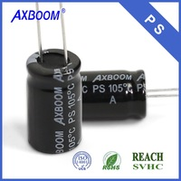 low voltage high capacitance 22000uf 6.3V aluminum electrolytic capacitor
