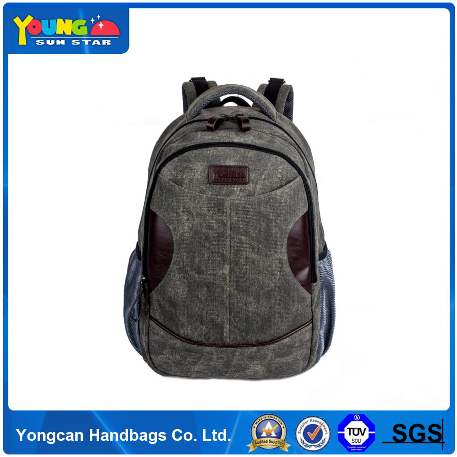 Hot new China wholesale laptop backpack college school vintage men backpack canvas