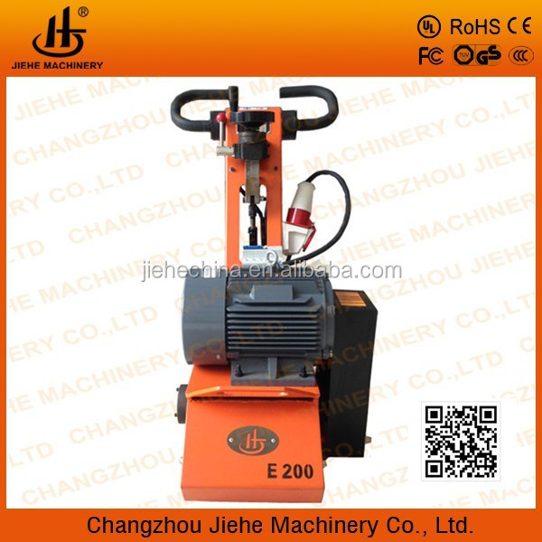 light milling floor machine for deep tire marks removal on concrete floor JHE200E