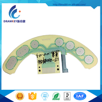 Polydome Conductive ink printing Circuit membrane switch for TOY