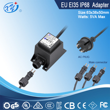 Euro plug waterproof adapter 12v ac adaptor for Water pump