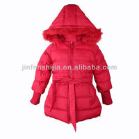Newest children multi-color girl's padded lovely coat