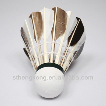 Export Malaysia Improve the ability to respond /best black&white goose feather shuttlecock for Training
