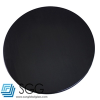 Top quality black tempered glass dining table