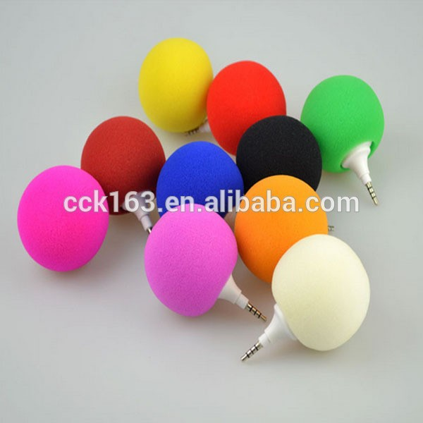 Super Audio Dock Music Sponge Ball Speaker 3.5MM Audio Jack 3.5 mm mp3 sound for mobile Cell Phone shipping by DHL