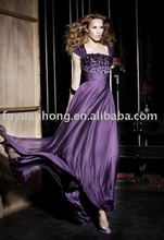FYH-EV00123^^purple scoop neck evening dress 2012